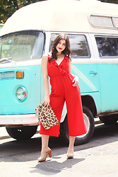Carly Maddox - Entourage Clothing Red Jumpsuit - Glam Jumpsuits and Old-School Vans