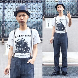 @KiD - Madness One Step Beyond, Newyork Hat Bowler, Noble Man Striped Pants, Dr. Martens Tassel Loafer - Japanese Trash191