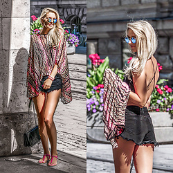 Vera Hutterer - Missoni Poncho, Asos Shorts, Tommy Hilfiger Sandals - Summer and the city