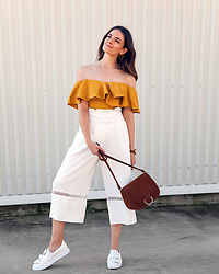 Jenelle Witty -  - MUSTARD YELLOW RUFFLES