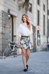 Franziska Elea - Zara Blouse, Zara Skirt, Zara Bag, Zara Shoes - Grandma's Skirt & Pastel Hair