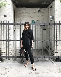 Leonie Leong - Joe Fresh Pants, Hermes Sandals, Fendi Bag, Cos Blouse - RUFF IT UP