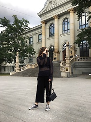 Liva Bambale - H&M Black Pants, Zara Black Bag, H&M Studio Ss15 Top, Asos Sunnies - LOOKING FOR THAT NEW FALL WARDROBE ??‍♀️
