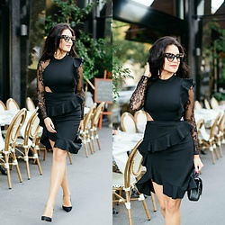 Edisa Shahini - Self Portrait Dress, Saint Laurent Bag, Aquazzura Shoes - SHORT DRESS BIG DREAMS