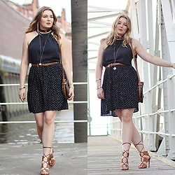 Ania K. [www.overdivity.com] - Belt, Belt, Shoes - Dotted Dress