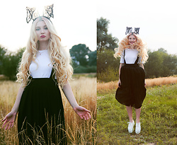 ♡Anita Kurkach♡ - Choies Hairband, Shein Skirt, Asos Shoes - BLACK RABBIT!