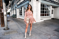 Jessi Malay - Wayf Evelyn Tiered Mini Dress, Tony Bianco Davis Boot, Chloe Medium Faye Leather Bag, Dita Heartbreaker Sunglasses - Transitioning to Fall