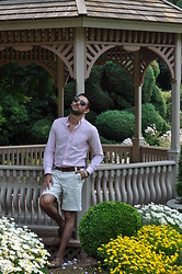 Hector Diaz - Club Monaco Rose Button Down, Moschino White Bermuda Shorts (Similar), Club Monaco Leather Belt, Aldo Brown Dress Shoes, Roxxlyn Watch - Roses All Summer