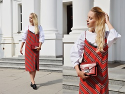 TripByTriplets B. - Mango Dress, Mango Blouse, Mango Bag, Zara Shoes - RED VIBES