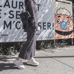 WMwatchme - Zara Pants, Zara Top, Grafea Backpack, Eytys Sneakers - Fall set