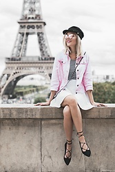 Vanessa ♡ - Sterkowski Hat, H&M Shirt, H&M Skirt, New Yorker Shoes - From paris with love, xoxo