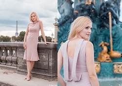 Eleonora Albrecht - Vipshop Pink Backless Mermaid Midi Dress - Ready for a pink cocktail!