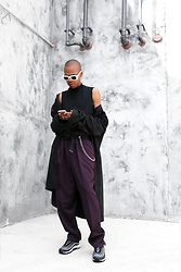 Dominic Grizzelle - Raen Flatscreen Shades, Ralph Lauren High Waisted Trousers, Nike Air Max 97 - Day by Day