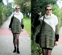 Kamila Krawczyk - River Island Sweater, Amiclubwear Shoes, Bonprix Bag, Gatta Tights, Lovelywholesale Earrings - Cozy sweater