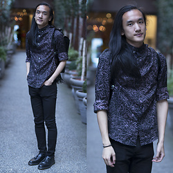 Xanthium James - Paul Smith Scrible, Cheap Monday New Black, Dr. Martens Adrian, Dr. Martens Patent Leather Bag - Nighthawk