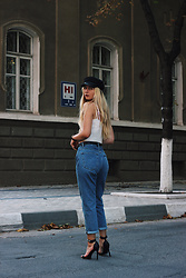 Ecaterina Rusu - Mango Sandals, Brandy Melville Usa Top, H&M Jeans, Asos Cap - IN THE CITY
