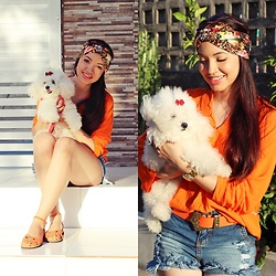 Nde -  - Casual boho. Orange and Blue *.*