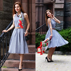 Beauty Mark Lady - Eliza J Dress - Vichy Dress Euphoria