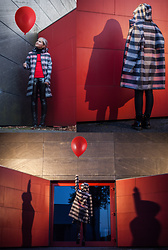Julia Loewenherz - Zara Striped Pvc Parka, H&M Vinyl Leggings, Dr. Martens Black Vinyl Boots - 'You'll float, too!' IT inspired look