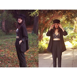 Roxana Ionescu - H&M Top, Pull & Bear Pants, H&M Jacket, Pull & Bear Hat, Stradivarius Choker - She's made from outer space.