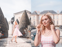 Eleonora Albrecht - Tuum Settedoni Necklace, The Pretty Dress Pink Vichy - Romantic afternoon