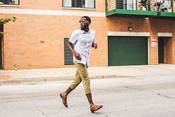 Justin Price - H&M Short Sleeved Button Up, Asos Cropped Pants, Aldo Brown Double Monk Strap Shoes - Go Green