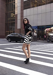 Christina Foka - Urban Outfitters Skirt, Juicy Couture Top, Chanel Sneakers - NYC I missed you <3
