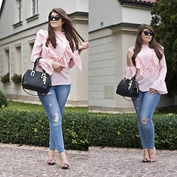 Feather P - Aldo Bag, Zaful Shirts, Stradivarius Jeans - Ruffle