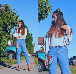 Karen Mae - Dorothy Perkins Blouse, Na Kd Embroidered Jeans, Steve Madden Shoes - Goodbye, Summer!