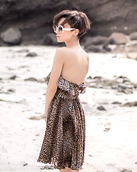 Eea Ikeda - Dolce & Gabbana Dress, Miu Sunglasses, Pandora Bracelet - Summer in September