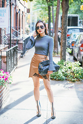 Tina Lee - Get Back To Square One Mock Neck Sweater, Eddie Borgo Choker, Quay Needing Fame Sunglasses, Self Portrait Utility Skirt, Kendall + Kylie Pvc Boots - The Shopbop Sale Is Here!