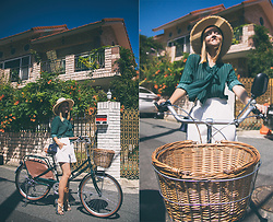 Olga Choi - Romwe Blouse, Furla Bag, Michael Kors Sandal - I want to ride my bicycle