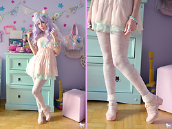 Luly Pastel Cubes - Swimmer Seashell, Petite Jolie Jelly, Lockshop Wig - Send me an angel