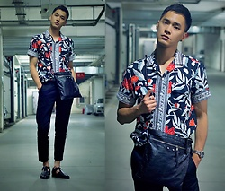 Chris Su - Topman Shirt, Balenciaga Bag, Zara Pants, Sandro Shoes - Home Again