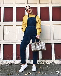 Christina N -  - Sweater + Overalls