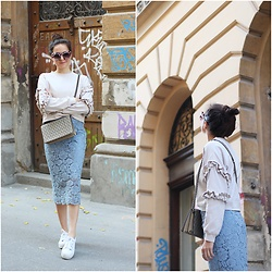 Marijana M - H&M Sweatshirt, H&M Lace Pencil Skirt, H&M Bag, H&M Sneakers, Dresslily Sunglasses - Moving out