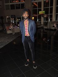 Sam Dapper - Topman Navy Blazer, Topman Velvet Pants, H&M Loafers - Birthday tings