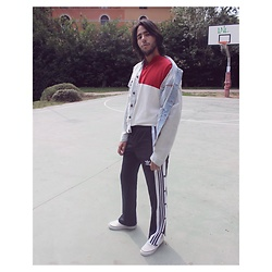 Alessandro - Adidas Original Joggers, Zara Oversized Denim Jacket - Right from the ghetto