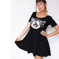 ♡Nelly Kitty♡ - H&M Black Cat Dress - OOTD#27