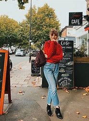 Carla V - Zaful Jumper, Levi's® Jeans, Rosegal Backpack, Asos Boots - Wednesday