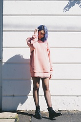 Elysa Cramer - Adidas Jumper, Acne Studios Chelsea Boots (Oil Slick) - Jumper? Dress?