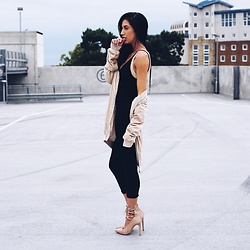 Jessica Revill - Missguided Bomber, Pretty Little Thing Jumpsuit, Missguided Laced Heels - You can go your own way