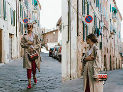 Andreea Birsan -  - How to incorporate color into your outfits: pink trousers