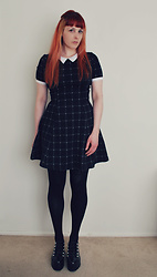 Alphie LaFray - H&M School Dress, Zara Platform Studs - But in the morning, it might just change