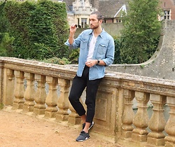 Henry & William Wade - Adidas Nmd, Zara Cropped Trousers, Levi's® Denim Shirt, H&M Musfle Fit T Shirt, Ray Ban Aviator Sun Glasses - Whatever the season styling