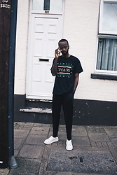 Abdulqadir Abuukar - Newlook Black Chaos 1991 Print Tshirt - Posted on block like a low life