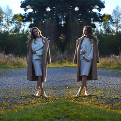 Ida - Missguided Coat, Missguided Heels - Camel + gold