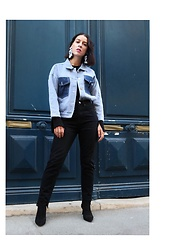 Alexandra DAP - Boohoo Jean, Shein Vest, New Look Boots, H&M Earrings - All you need is #denim