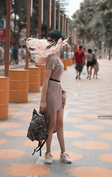Septembrenell Rain - Zaful Dress, Levi's® Hat, Oribagu Bag - Zaful