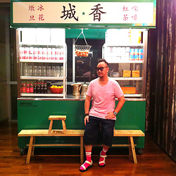 Mannix Lo - Cotton On Pocket Tee, Uniqlo Wide Pants, Online Shop Outdoor Sandals - Old Hong Kong style Cafe